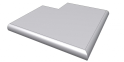Копинговый камень для бассейна с наружным углом Helsinki ScandiRoc-White