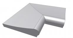 Копинговый камень угловой Florida ScandiRoc-White