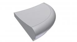 Бортовой камень угловой Florida ScandiRoc-White