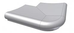 Бортовой камень угловой с наружным радиусом Color Florida ScandiRoc
