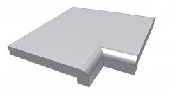 Бортовой камень с внутренним углом Athen ScandiRoc-White