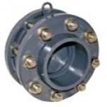 Обратный клапан с фланцами и манжетом 250мм Gemas