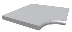 Бортовой камень Угловой с Внутренним радиусом Kiruna ScandiRoc Black