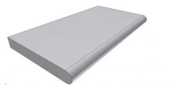 Копинговый камень для бассейна прямой Helsinki ScandiRoc-White